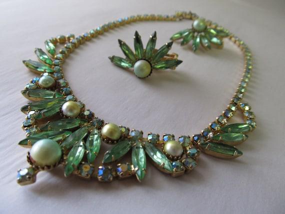 Green Costume Jewelry Set