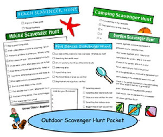 Outdoor Scavenger Hunt Printable Packet
