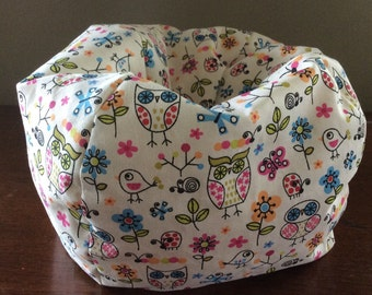Barbie Size Doll Bean Bag Chair, Furniture **Hearts & Flowers **