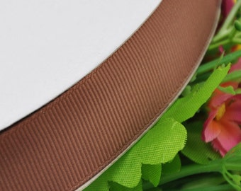 "1"" 25mm Grosgrain Ribbon craft/sewing/wedding Coffee Color 15Y"