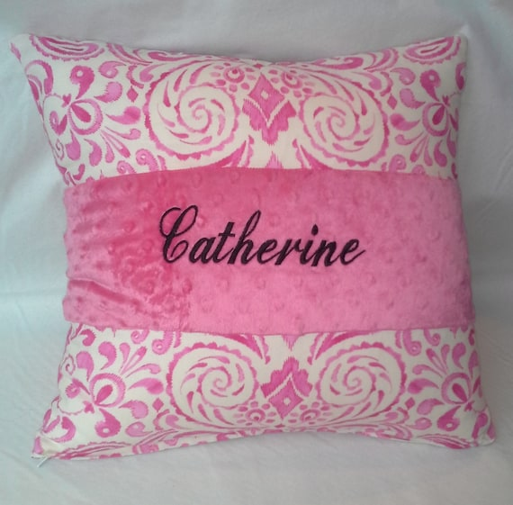 16 x 16 inch pillow cover custom embroidered personalized. Black Bedroom Furniture Sets. Home Design Ideas
