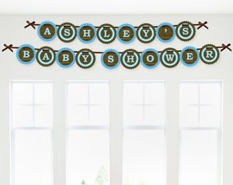 Blue Elephant Garland Banner - Custom Party Decorations