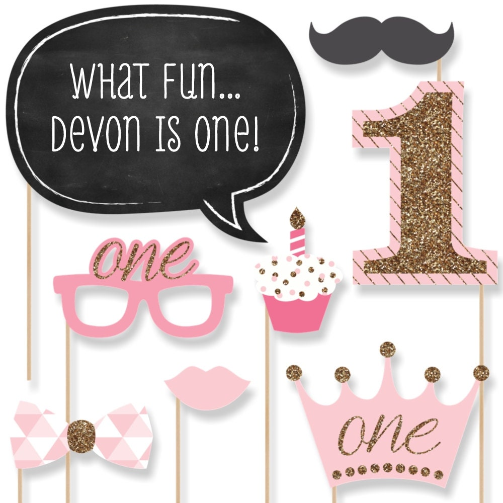 Fun To Be One 1st Birthday Girl Photo Booth By