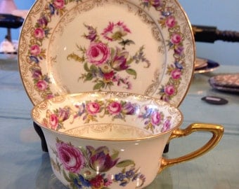 Antique numbered ovington's Rosenthal Ivory Bavaria Vienna tea cup and saucer