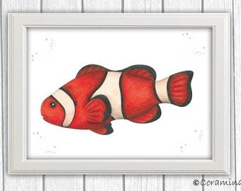 """Artprint """"Clownfisch"""""""