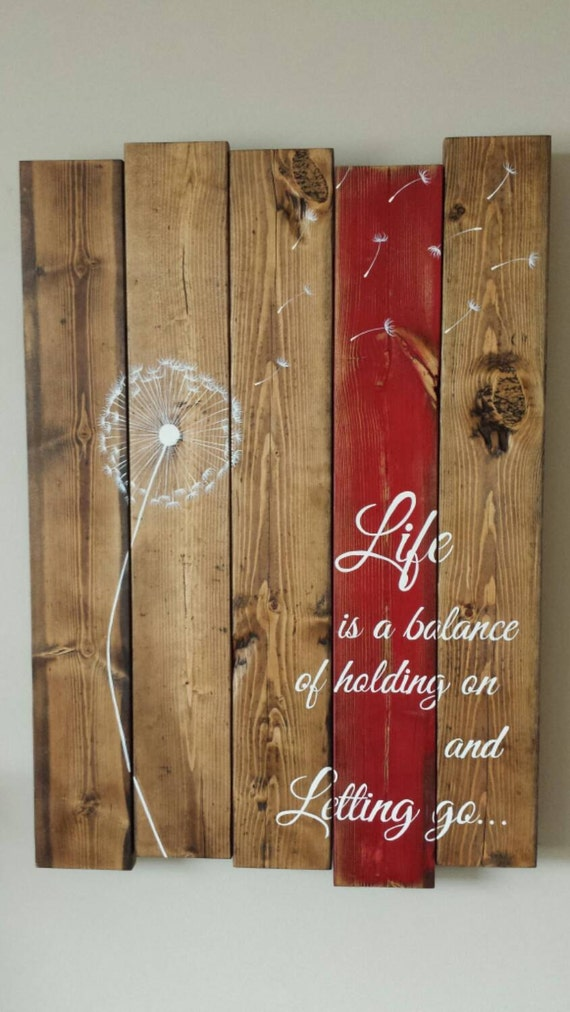 Rustic Reclaimed Pallet Wood Sign Life Is A By Tinhatdesigns