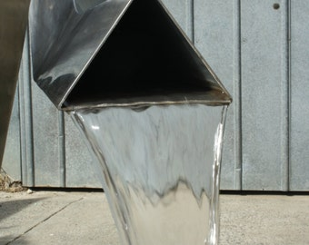 Custom made Stainless Steel Sculptural Water Feature