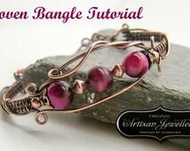 Wire wrap tutorial ~ Handmade jewelry ~ Instructions ~ Pdf ~ Wire wrapped bracelet ~ Jewelry kit ~ Bracelet tutorial ~ Wire jewelry pattern