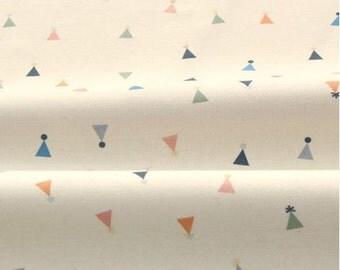 Triangle Pattern 40s Cotton Interlock Knit Fabric by Yard (Ivory)