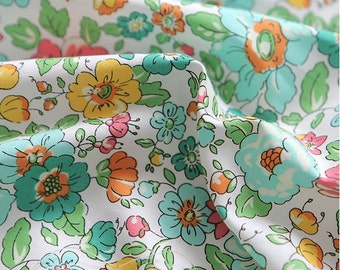 Lovely Flower Pattern Cotton Fabric by Yard C72380-2 Colors Selection