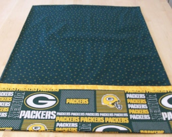 Green Bay Packers pillowcase with French seams