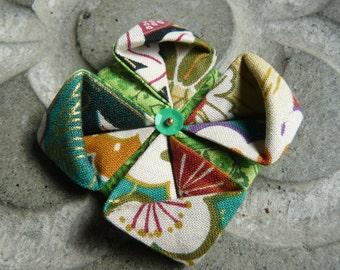 PIN green lotus origami