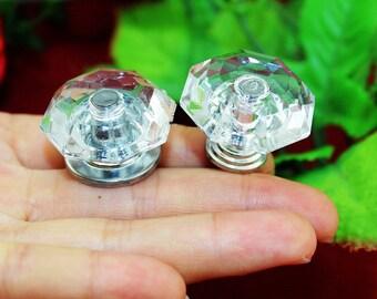 Diaphaneity knob etsy for Crystal bureau knobs