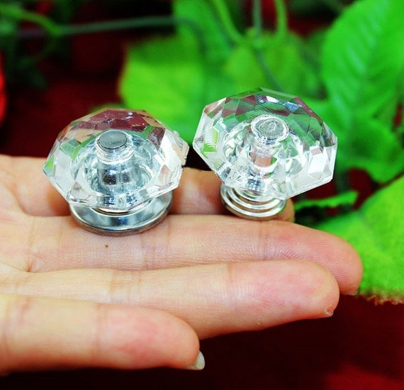4 diamond head knobs acrylic plastics pull bureau knob for Knobs for bureau