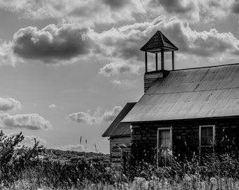 Old School House, Black & White Fine Art Photography by Pitts Photography