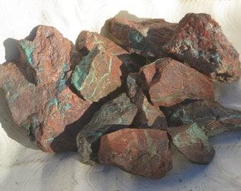 Chrysacolla in Rhyolite Lapidary Rough, Planet Mine, Arizona