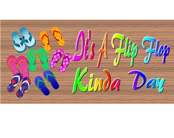 Wood Signs Flip Flop  GS1794 Wood Signs with Sayings - Flip Flop sign - Wooden sign