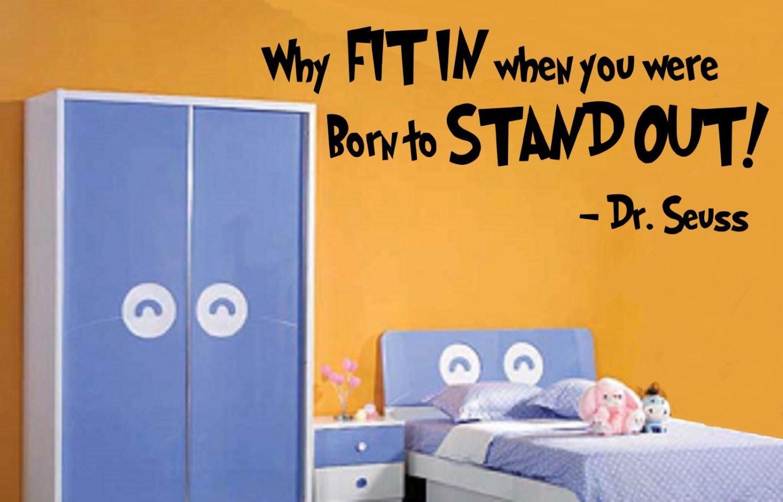 Children Room Decor Dr Seuss Vinyl Wall By Berriesandcherries