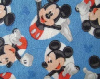 1.5 yards of Mickey Mouse Fleece Fabric