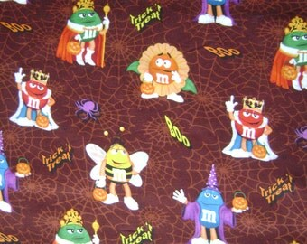 M&Ms Trick or Boo Cotton Fabric Sold by the Yard