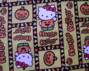 Hello Kitty Pumpkin Cotton Fabric by the yard