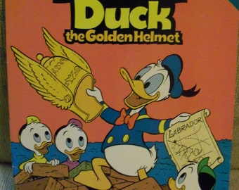 "Vintage 1957  Walt Disney's Donald Duck in ""The Golden Helmet"" Comic Book"