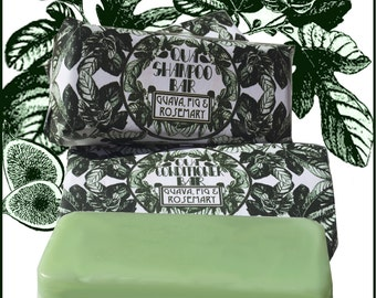 Combo Guava, Fig & Rosemary Shampoo and Conditioner Bar