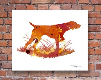 German Short Haired Pointer Art Print - Abstract Watercolor Painting - Dog  - Wall Decor