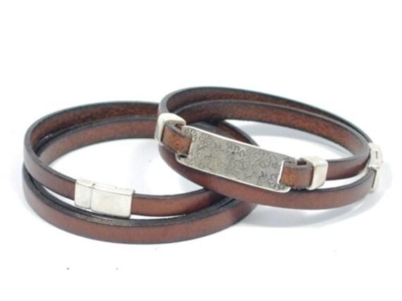 pulseras para parejas, pulsera de cuero para hombre, regalos para parejas, pulsera de