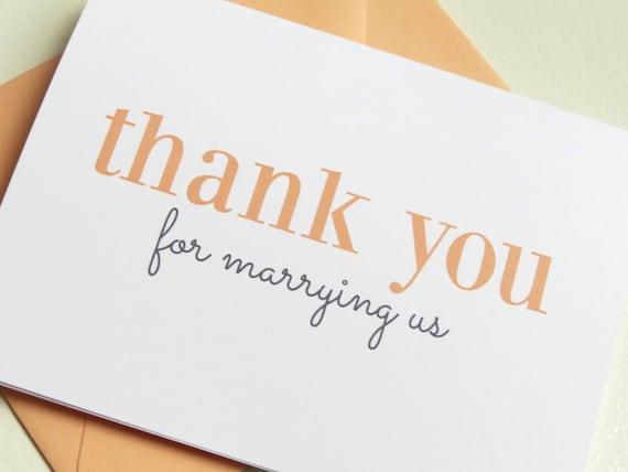Wedding Officiant Gift Ideas: Wedding Card For Wedding Minister Or Officiant On Your Wedding