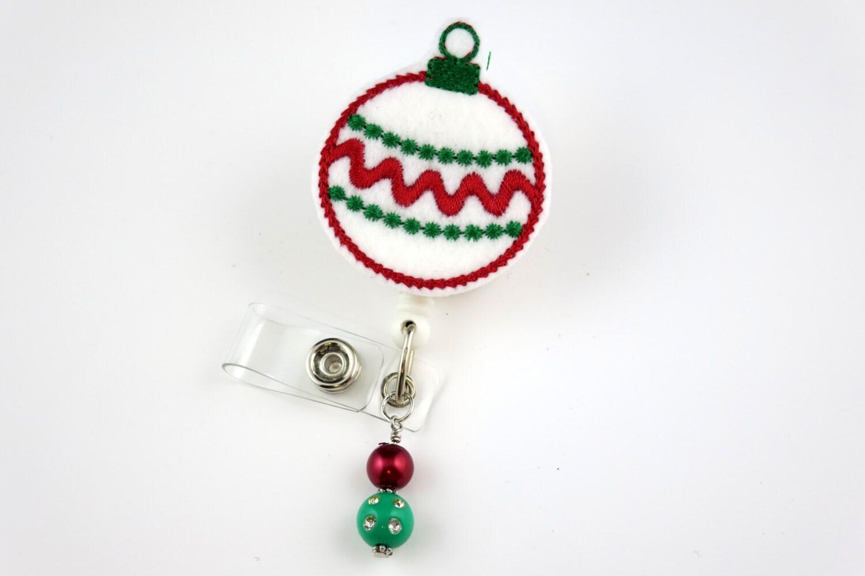 Christmas ornament retractable id badge holder name badge for Christmas name badges