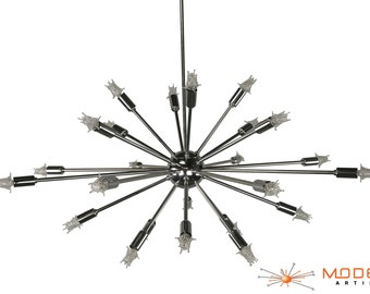 Mid Century Modern Sputnik Atomic Lamp Polished Chrome Starburst Chandelier