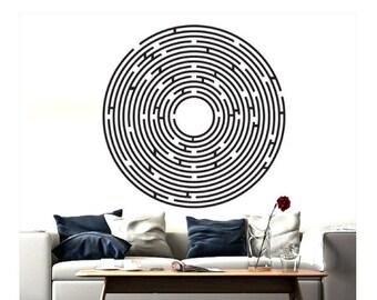 """23""""x23"""" Maze, adhesive vinyl wall art"""