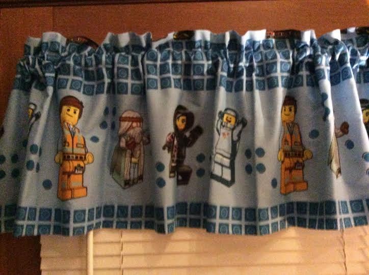 Lego Curtain Window Valance Boys Room Decor Extra Wide