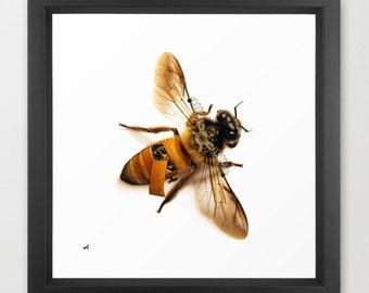 Insect Print | Steampunk Wall Art | Steampunk Art Print | SteampunkPoster | Giclee Print | Bee| Art | Digital Painting | Insect