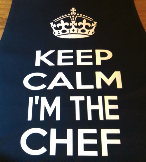 Funny apron keep calm i 39 m the chef nice cool cook by for Keep calm immagini