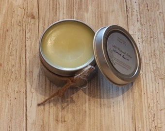 Lemon Balm Salve Handmade All Natural Slip Top Tin Lip Balm Cuticle Cream All Purpose Hand salve, herbal salve