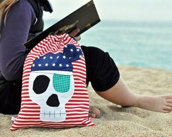 Bag fabric skull pirate