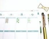 36 Mint Gold Flag marker stickers! Perfect for your Erin Condren Life Planner Sticker, Filofax, Kikkik, Plum Paper #SQ00248