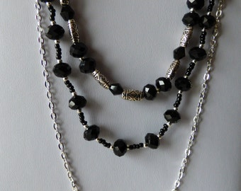 Necklace Black Starlet - Made in FRANCE