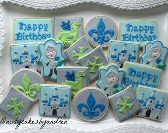 1 dozen medieval knight theme cookies!