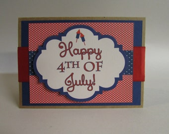 Handmade Card Old Fashion 4th of July