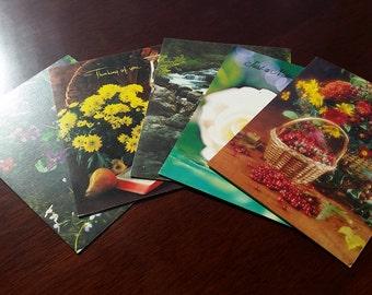 Set of 5 Vintage Greeting Cards