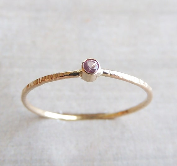 Sapphire Stacking Skinny Ring