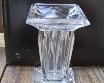 Square Crystal Vase Etsy