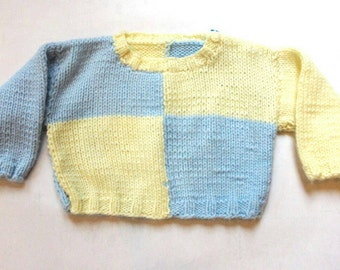 knitted baby sweater / crochet baby sweater / knitted baby clothes / croceht baby clothes / vintage baby clothes / vintage kids clothes