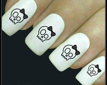 Nail Decal Skull Nail Art 20 Water Slide Decals Fingernail Decals Nail Tattoos