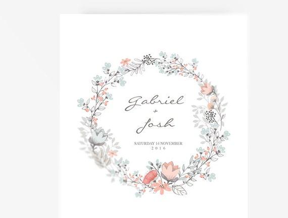 Wedding Program Template Editable Word Template Instant