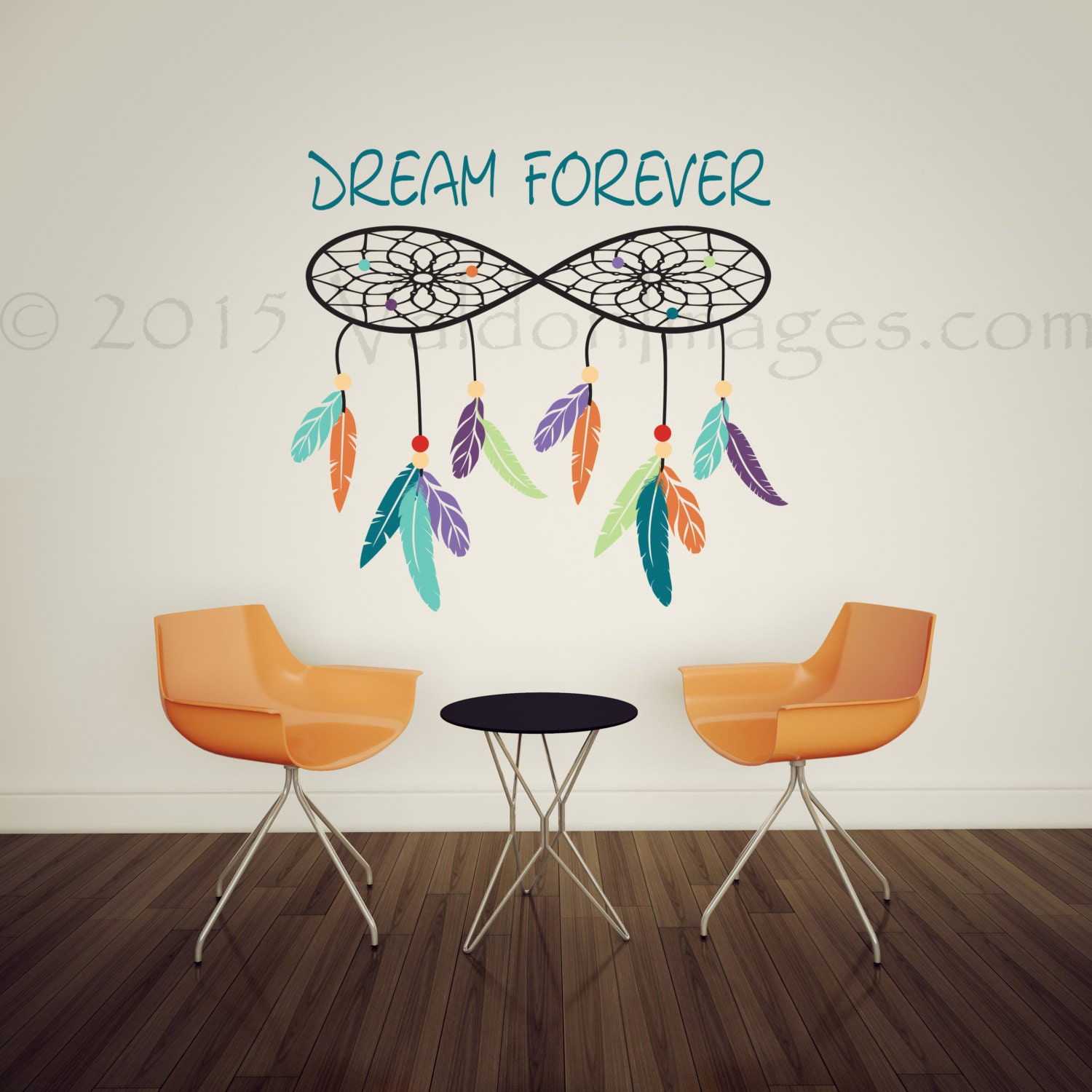 Dreamcatcher wall decal dorm room wall decor bedroom wall zoom amipublicfo Gallery