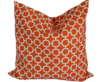 Outdoor pillow, 20x20, Outdoor pillow cover, Outdoor throw pillow, Decorative pillow, Outdoor toss pillow, Outdoor cushion, Orange pillow